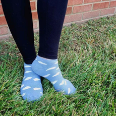 Maggie's Organics Organic Cotton Blue Cloud Footies Size 9-11