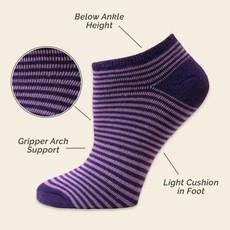 Maggie's Organics Organic Cotton Purple Pinstripe Footies Size 9-11