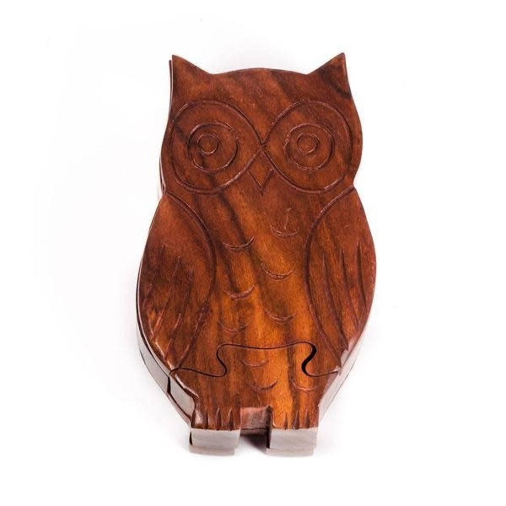 Matr Boomie Owl Wooden Puzzle Box