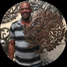 Global Crafts Painted Gecko Steel Drum Art