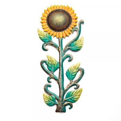 Serrv Painted Sunflower Drum Art