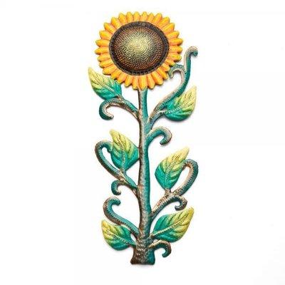Serrv Painted Sunflower Drum Art