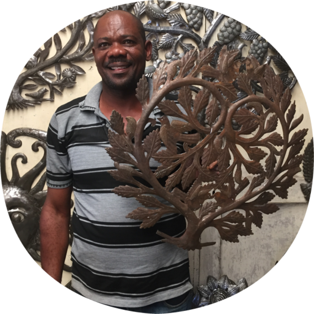 Global Crafts Painted Tree with Roots Drum Art