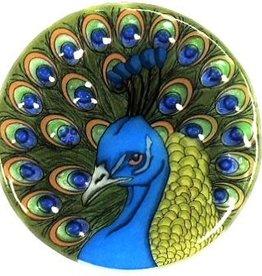 PamPeana Peacock Fused Glass Ornament