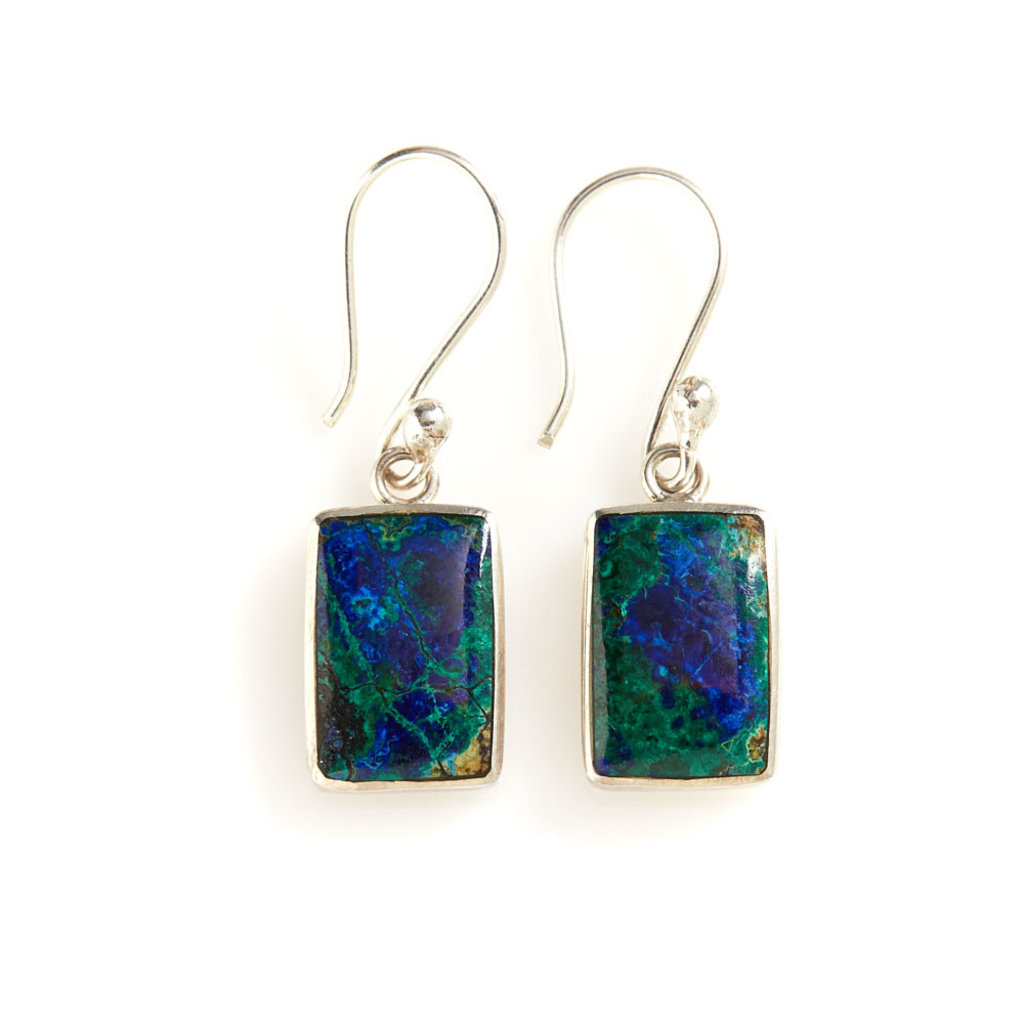 Serrv Peruvian Azurite Sterling Silver Earrings
