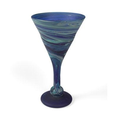 Ten Thousand Villages Phoenician Blue Cocktail Goblet