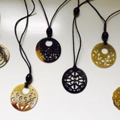 Blossom Inspirations Pierced Horn Necklace