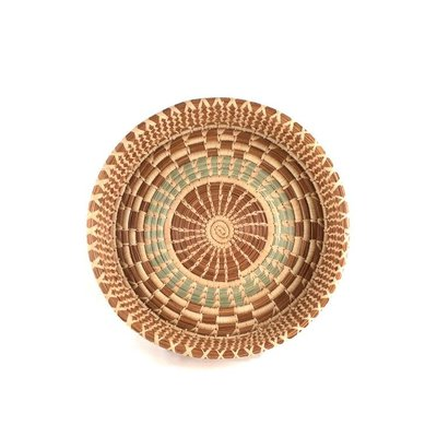 Mayan Hands Pine Needle and Wild Grass Melany Basket