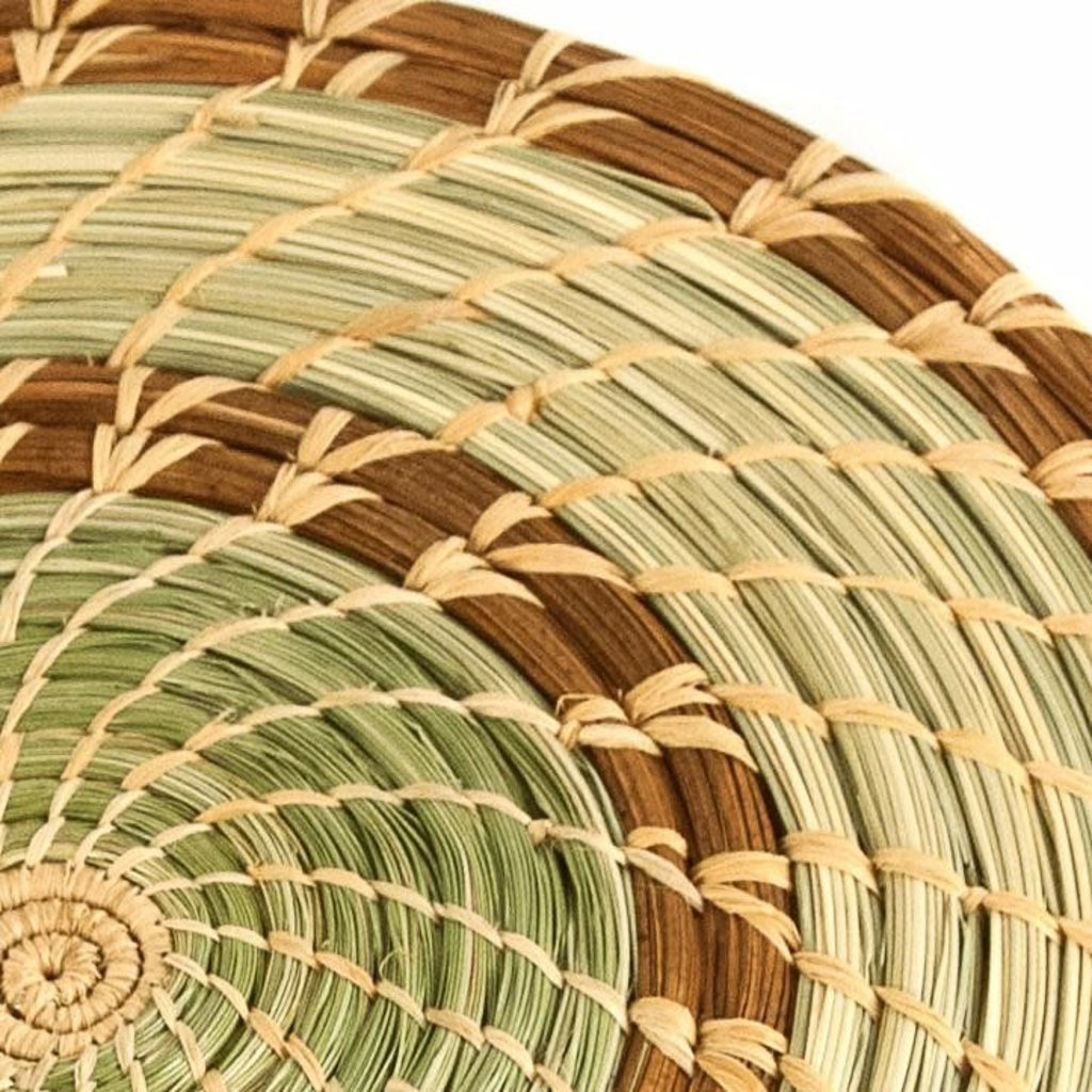 Mayan Hands Pine Needle and Wild Grass Trivet