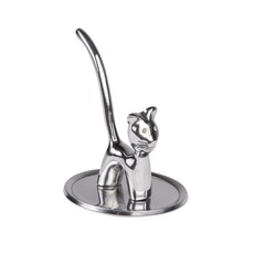 Ten Thousand Villages Pretty Kitty Aluminum Ring Holder