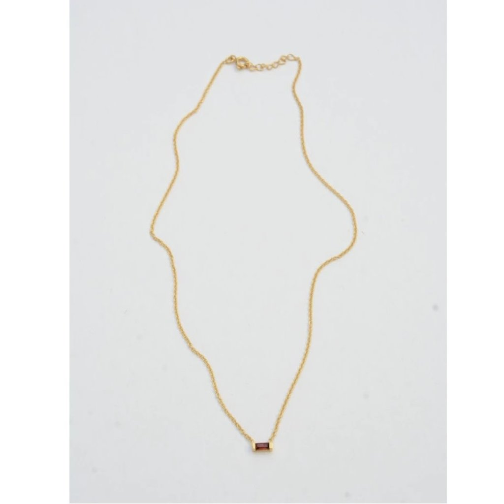 Fair Anita Prism Gold and Garnet Necklace