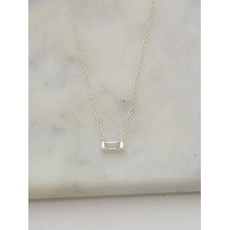 Fair Anita Prism Sterling Silver and Crystal Necklace