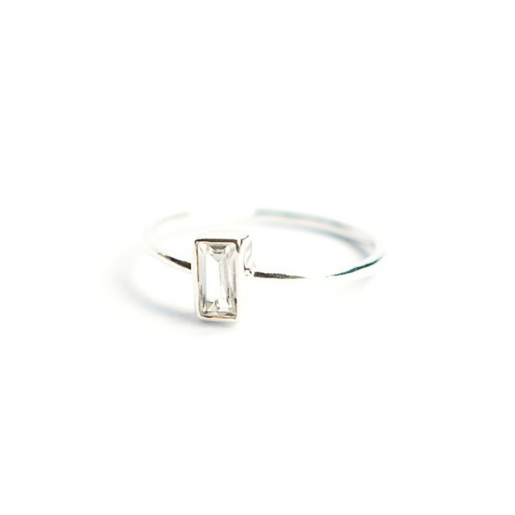 Fair Anita Prism Sterling Silver and Crystal Ring
