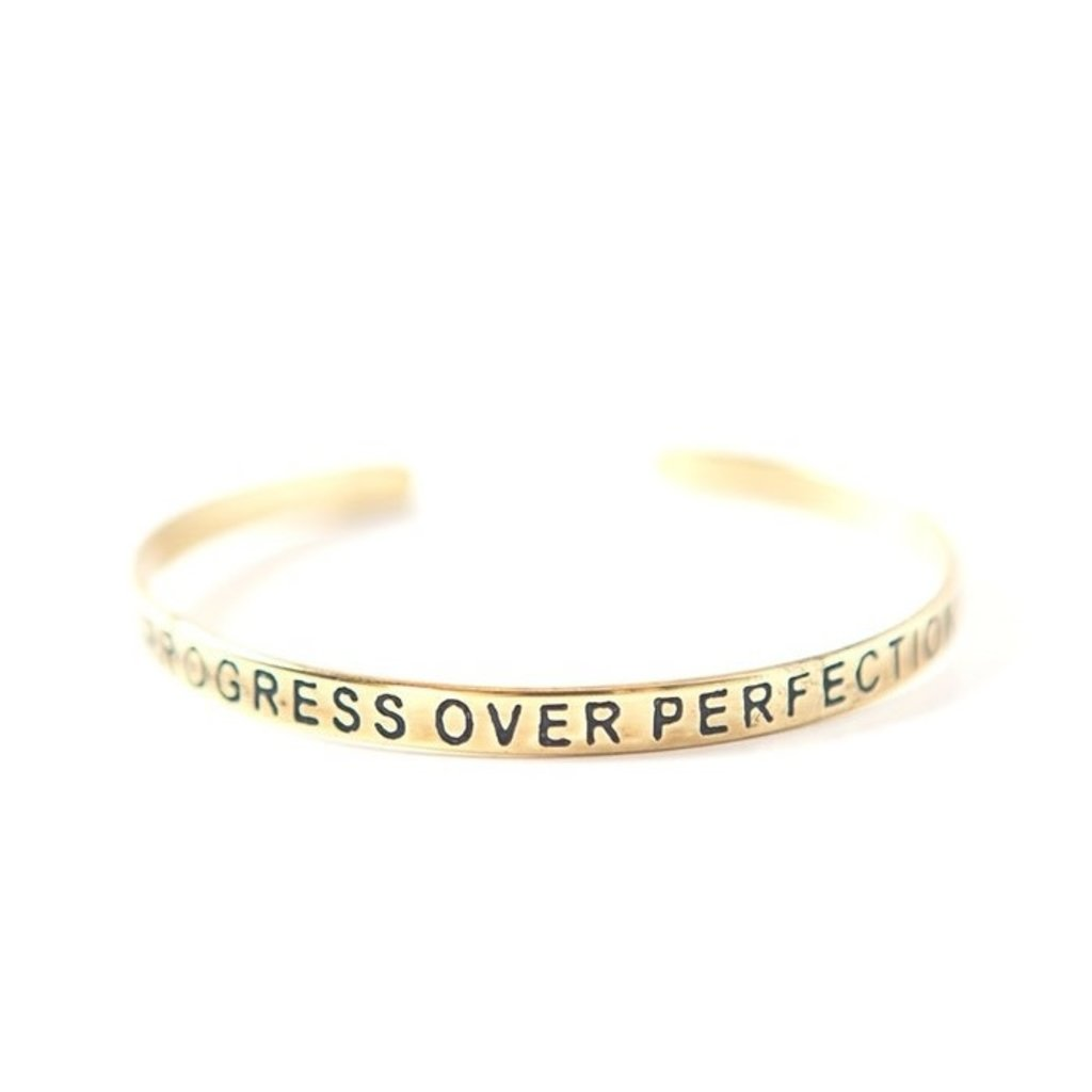 Fair Anita Progress Over Perfection Brass-plated Cuff