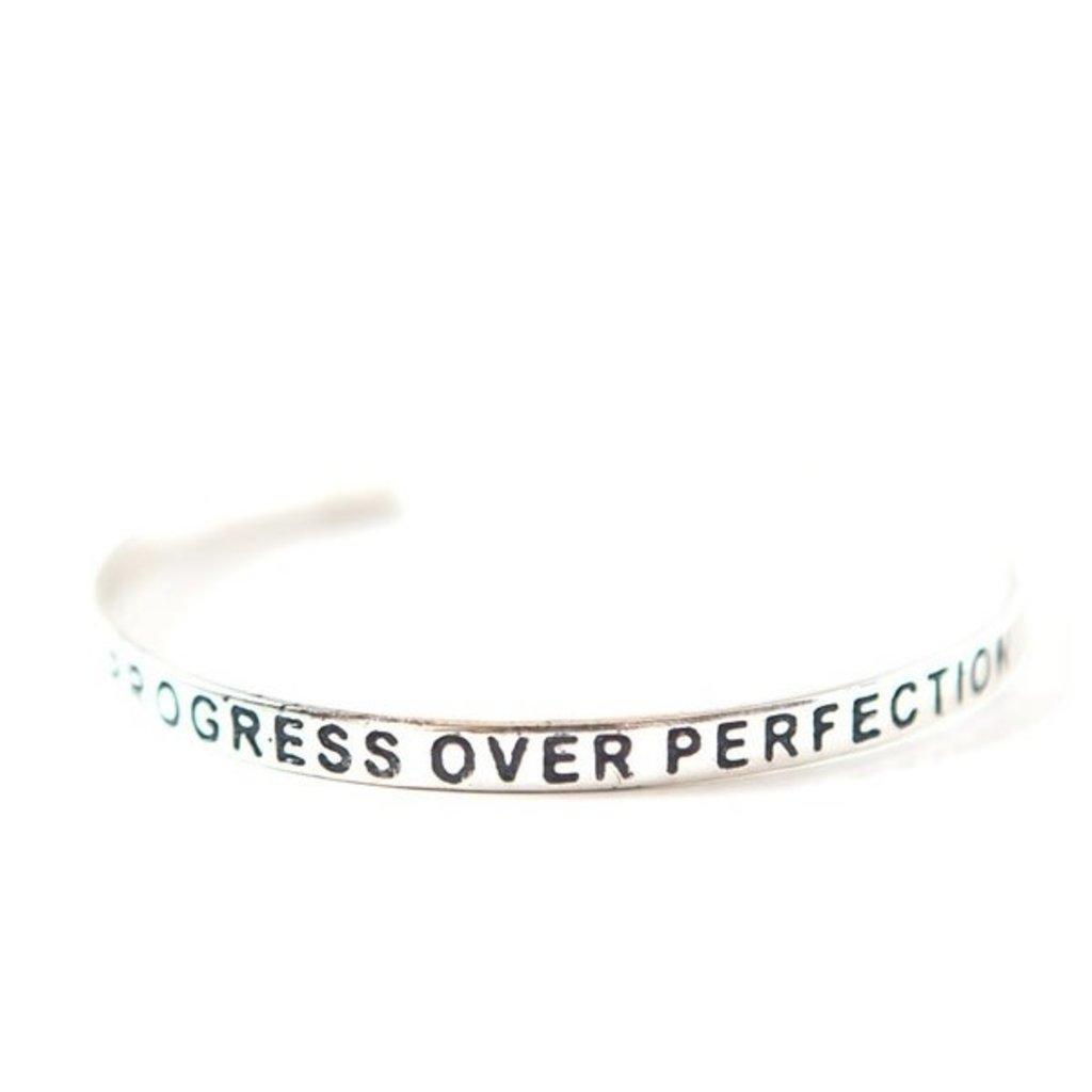 Fair Anita Progress Over Perfection Silver-plated Cuff