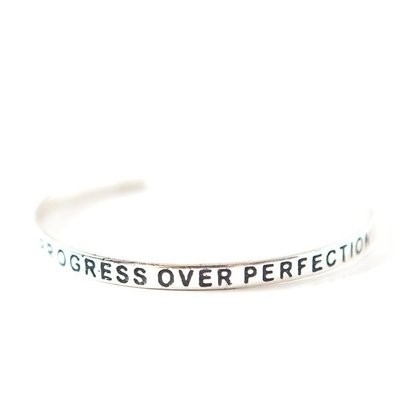 Fair Anita Progress Over Perfection Silver-plated Cuff