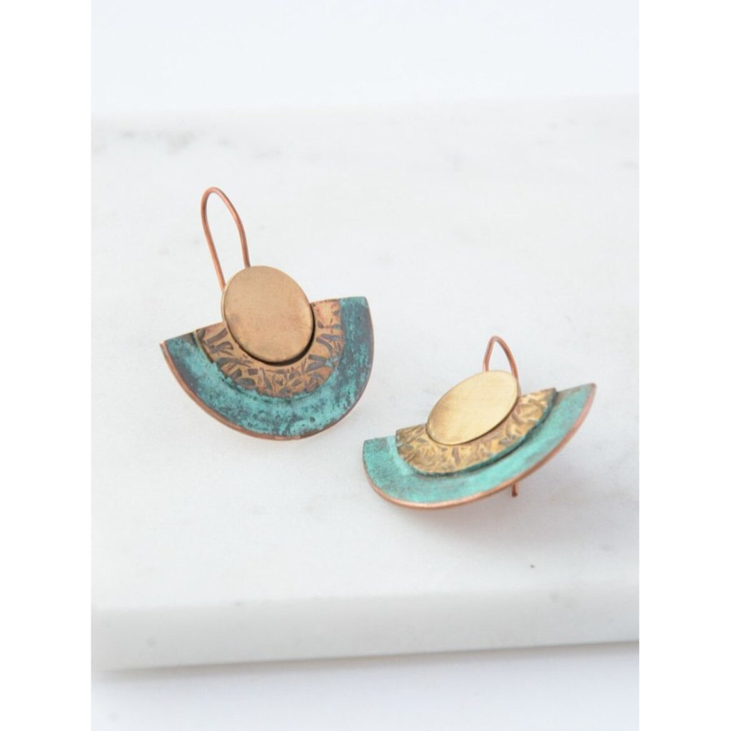 Fair Anita Pueblo Patina Earrings