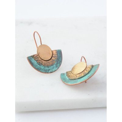 Fair Anita Pueblo Patina Earrings