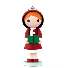 Quilling Card Quilled Caroling Doll Ornament with Stand
