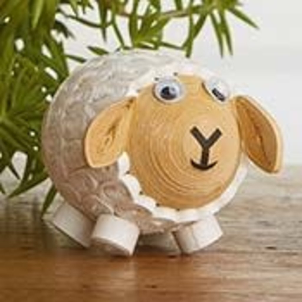 Serrv Quilled White Sheep