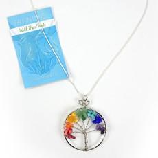 Minga Imports Rainbow Tree of Life Necklace