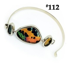 Silver Tree Designs Butterfly Wing 3-Wing Cuff Chrysiridia Rhipheus/Sunset Moth