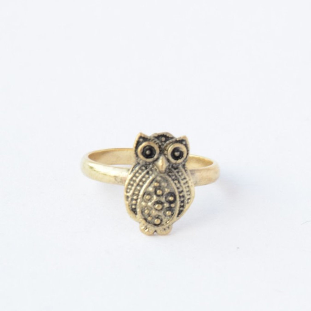 Fair Anita Recycled Brass Owl Ring