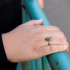 Fair Anita Recycled Brass Owl Ring