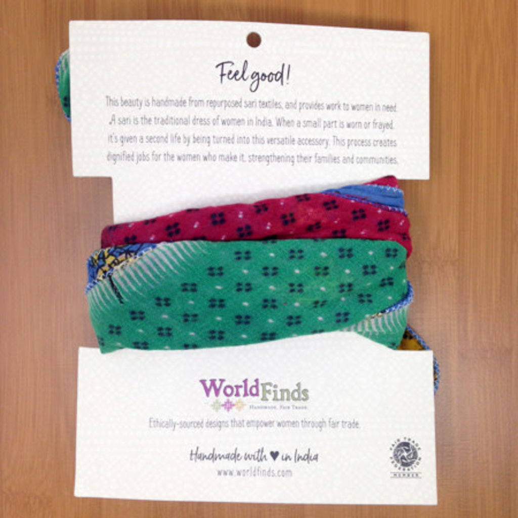 World Finds Recycled Cotton Sari Bandana