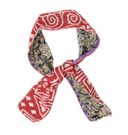 World Finds Recycled Cotton Sari Neckerchief or Hair Tie