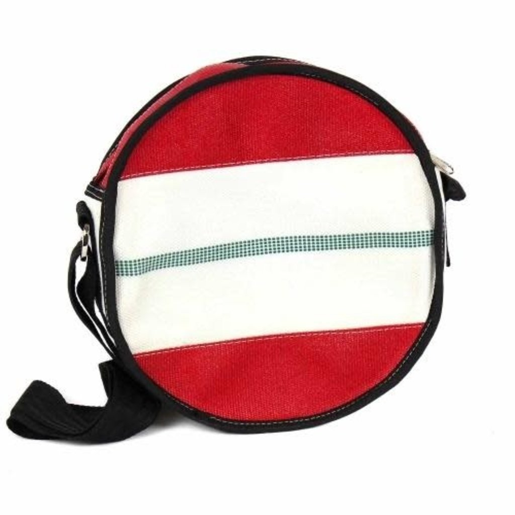 Global Crafts Recycled Firehose Round Shoulder Bag