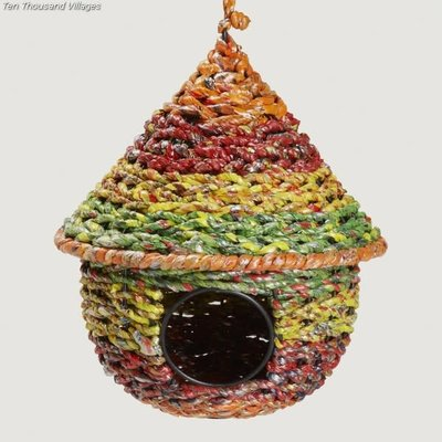 Ten Thousand Villages Recycled Plastic Birdhouse