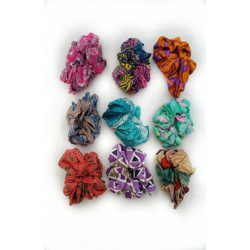 Ganesh Himal Recycled Silk Sari Scrunchie