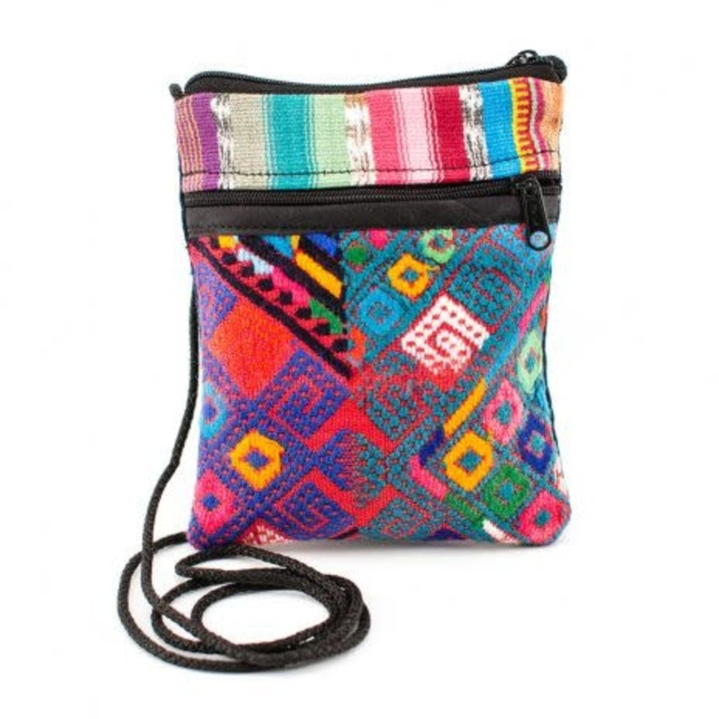 Lucia's Imports Recycled Textile Mini-Passport Bag