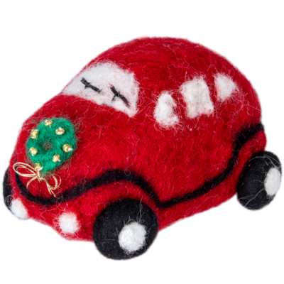 DZI Handmade Red Luv Bug Ornament