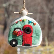 DZI Handmade Retro Camper Wool Felt Birdhouse