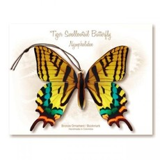 Tulia's Artisan Gallery Tiger Swallowtail Butterfly Ornament Bookmark