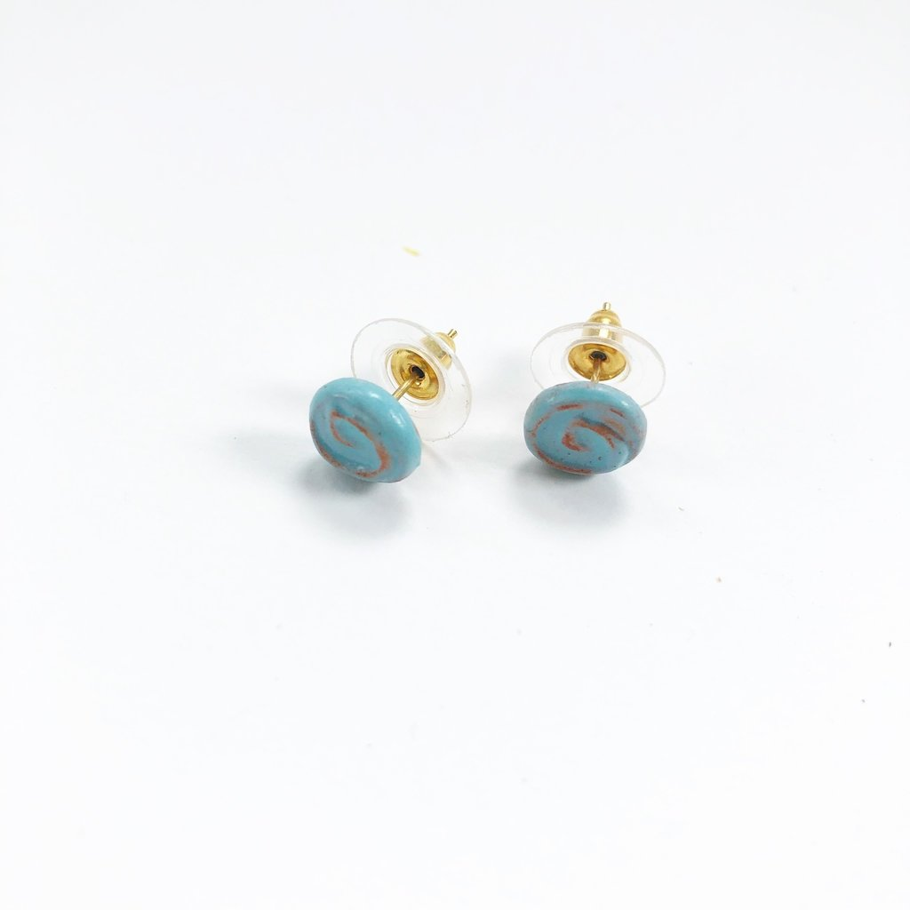 Creation Hive Spiral Stud Earrings