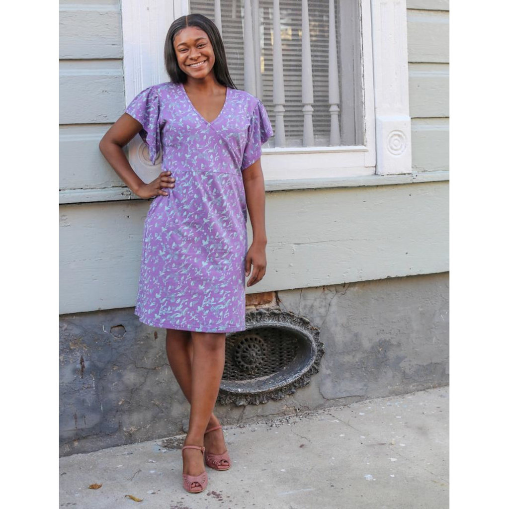 Passion Lilie Mae Organic Jersey Lavender Dress