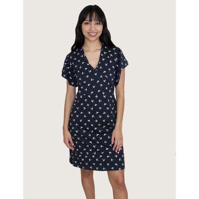 Passion Lilie Pajaro Navy Cotton Jersey Dress