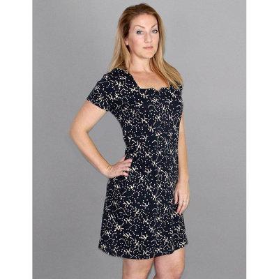 Passion Lilie Splatter Dot Organic Jersey Dress Black