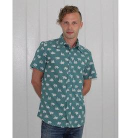 Passion Lilie Juniper Men's Button Down Shirt