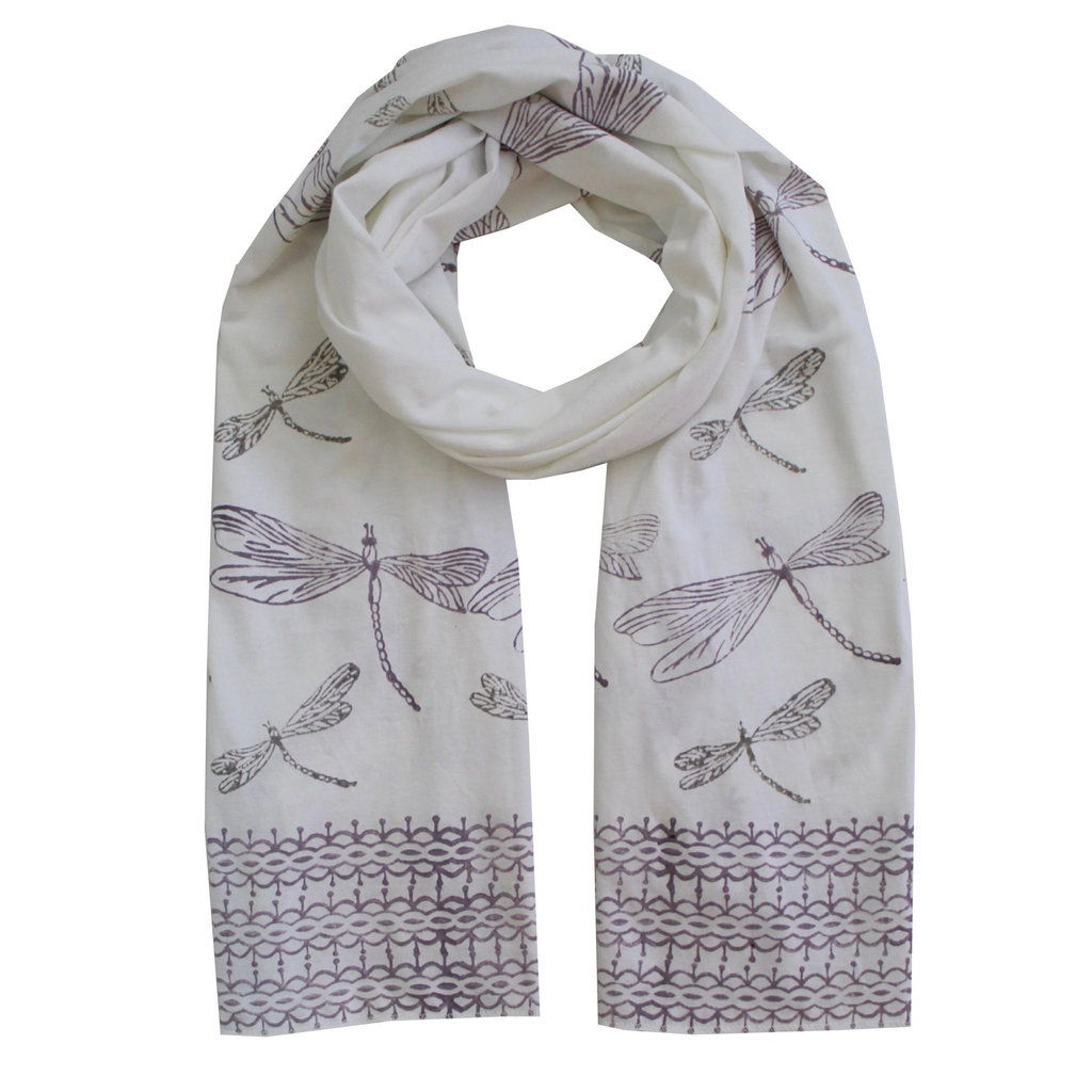 Passion Lilie Dragonfly Organic Jersey Scarf