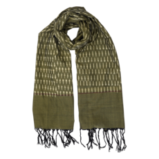 Passion Lilie Classic Olive Ikat Scarf