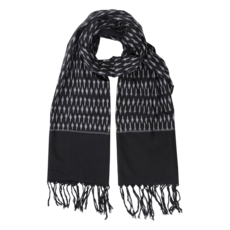 Passion Lilie Classic Black Ikat Scarf