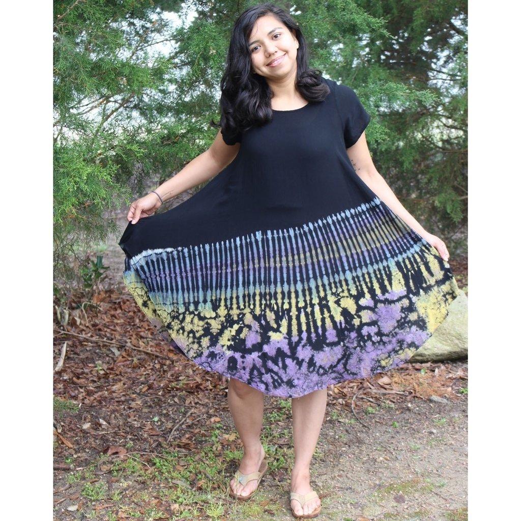 Unique Batik Rosie Thai Dye Rayon Dress