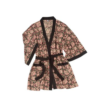 Ten Thousand Villages Rosy Morning Cotton Robe