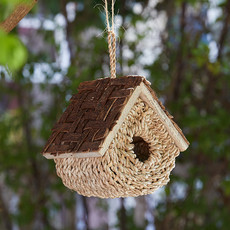 Serrv Rustic Basket Birdhouse