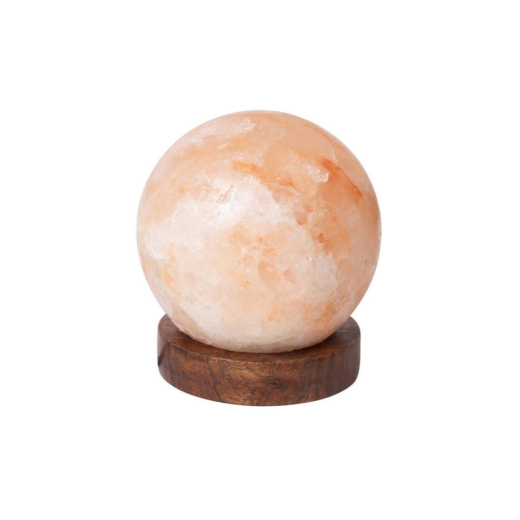 Ten Thousand Villages Salt Crystal Globe Lamp