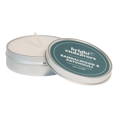 Bright Endeavors Sandalwood & Patchouli Candle 4oz Tin